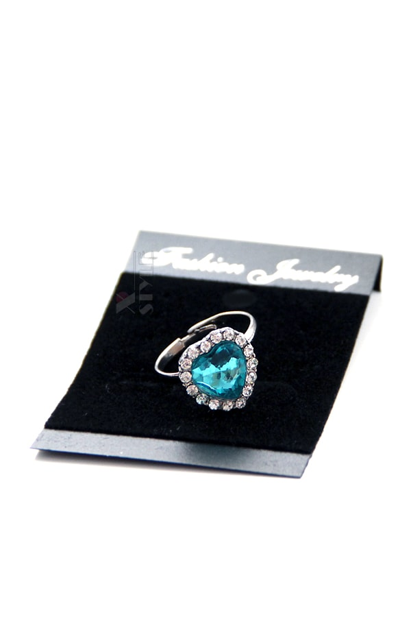 Кольцо с голубым камнем XJ8186, 3