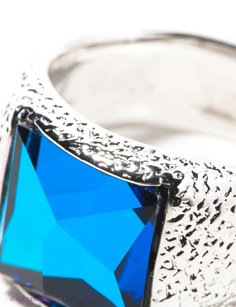Родированное кольцо Swarovski Jenavi, 5