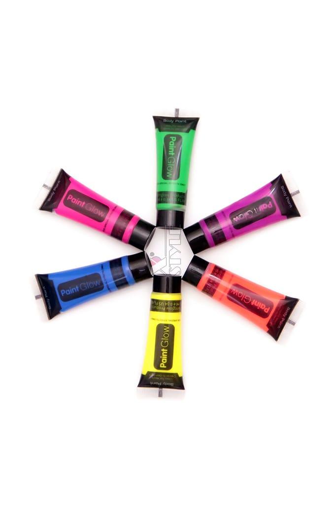 Неоновые краски для лица и тела (6 цветов), 3