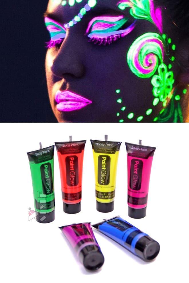 Неоновые краски для лица и тела (6 цветов), 9