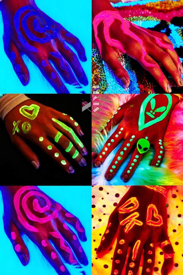 Неоновые краски для лица и тела (6 цветов), 5