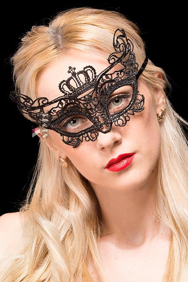 Твердая кружевная маска для глаз A1029, 3