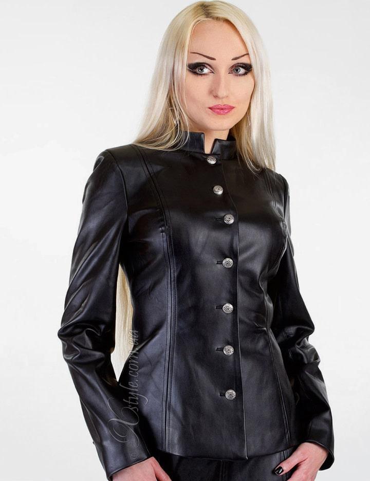 Кожаная куртка с вышивкой, 5