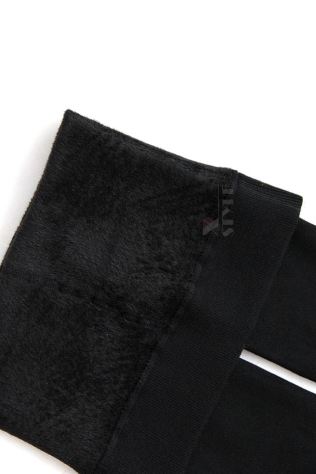 Черные лосины с мехом MF8277, 7
