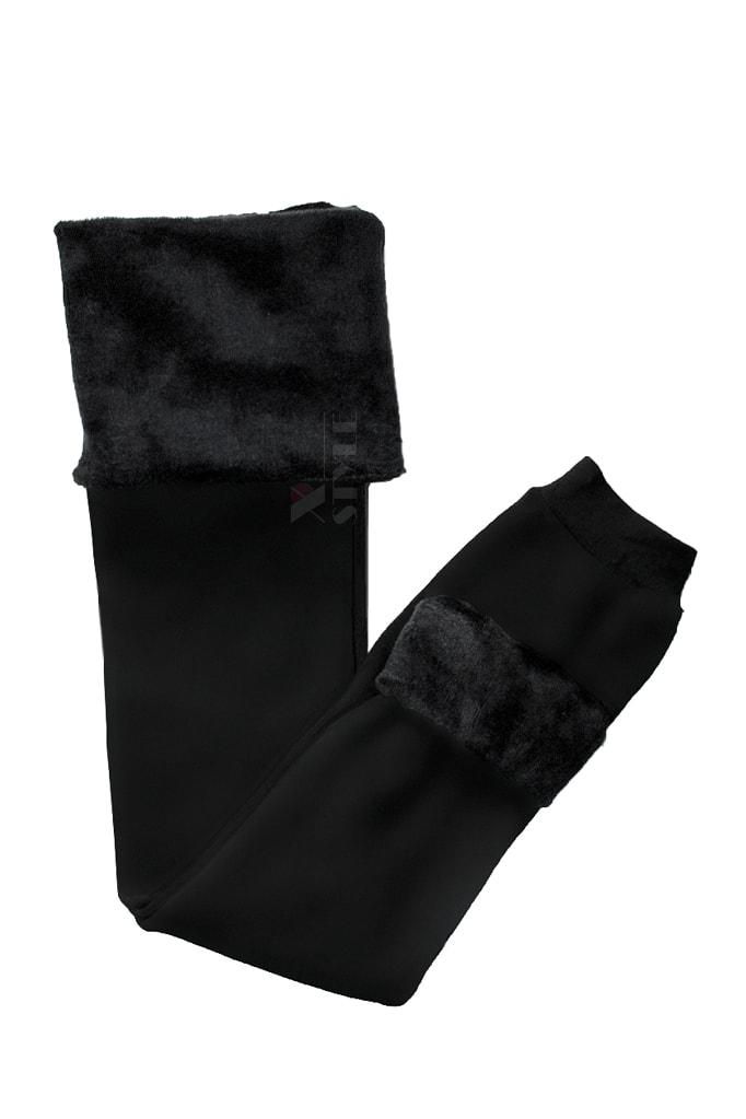 Черные лосины с мехом MF8277, 5
