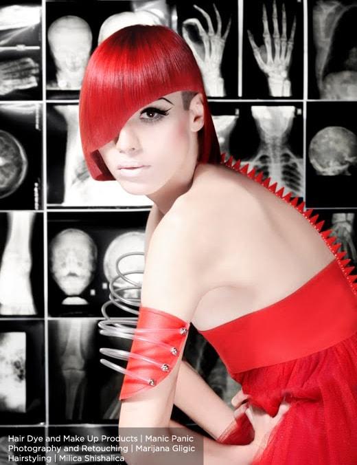 Красная краска для волос Wildfire, 7