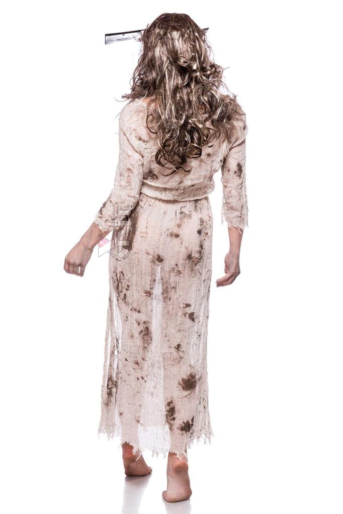 Женский костюм зомби (платье, парик и обруч), 7