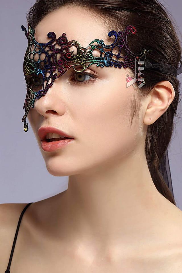 Асимметричная разноцветная маска XC057, 3