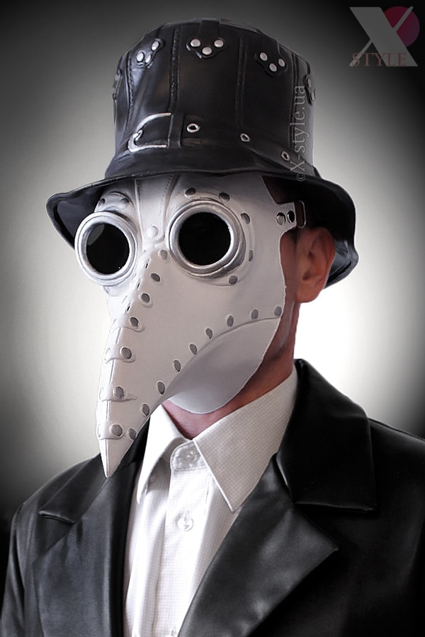 Белая маска чумного доктора XA1072, 3