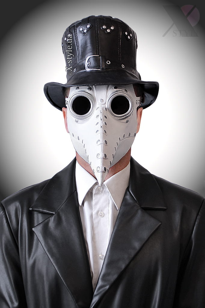 Белая маска чумного доктора XA1072, 9