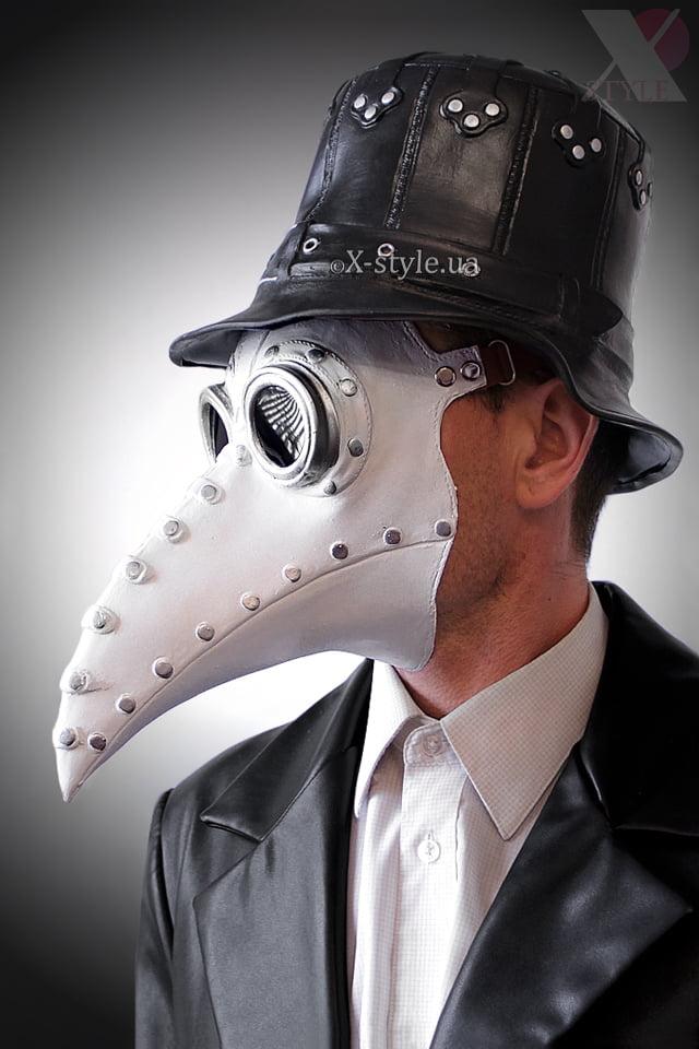 Белая маска чумного доктора XA1072, 5