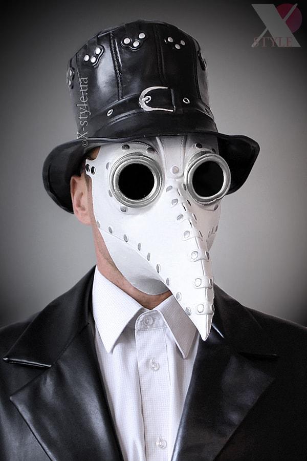 Белая маска чумного доктора XA1072, 7