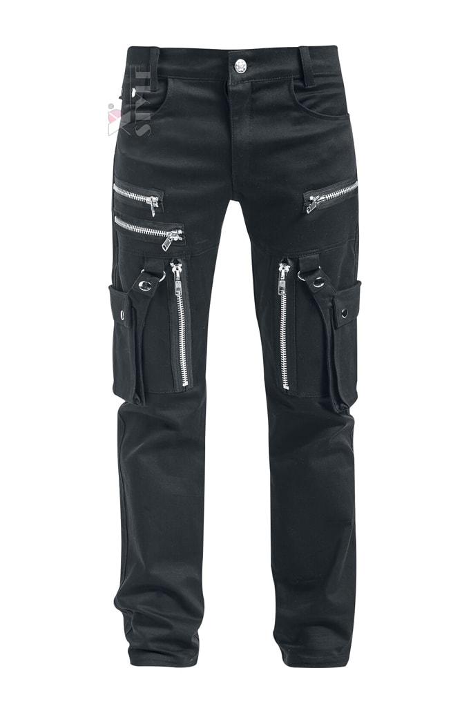 Черные мужские брюки с накладными карманами XTC7004, 7