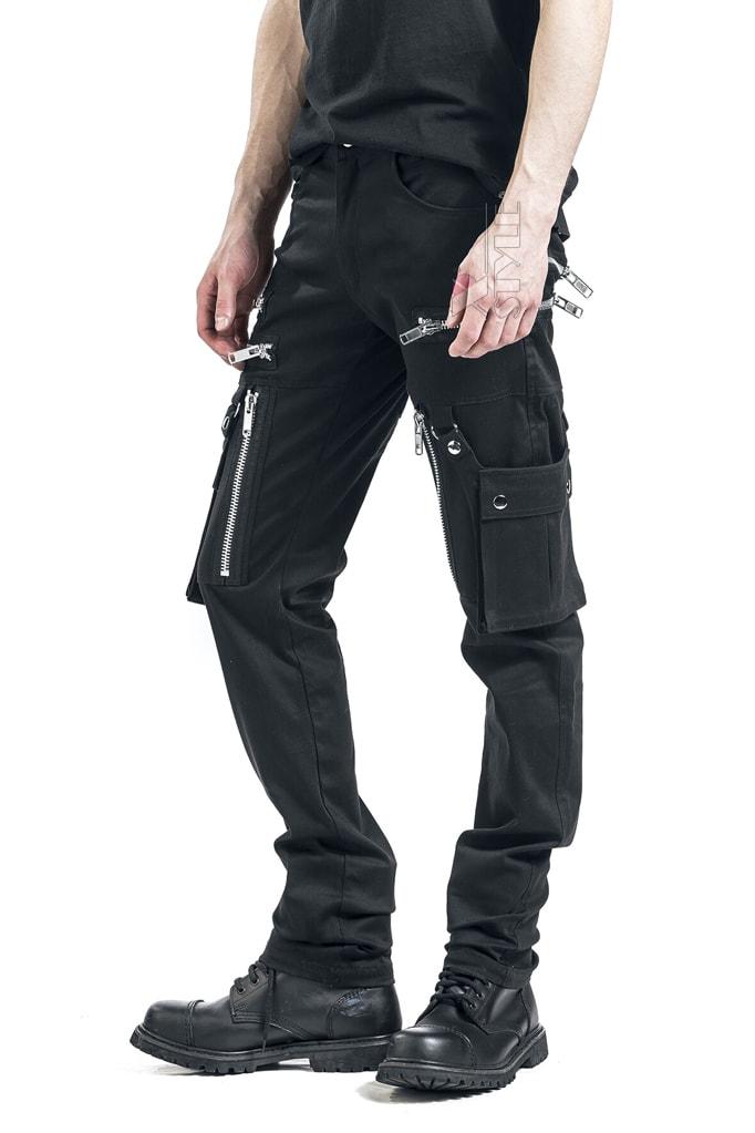 Черные мужские брюки с накладными карманами XTC7004, 5