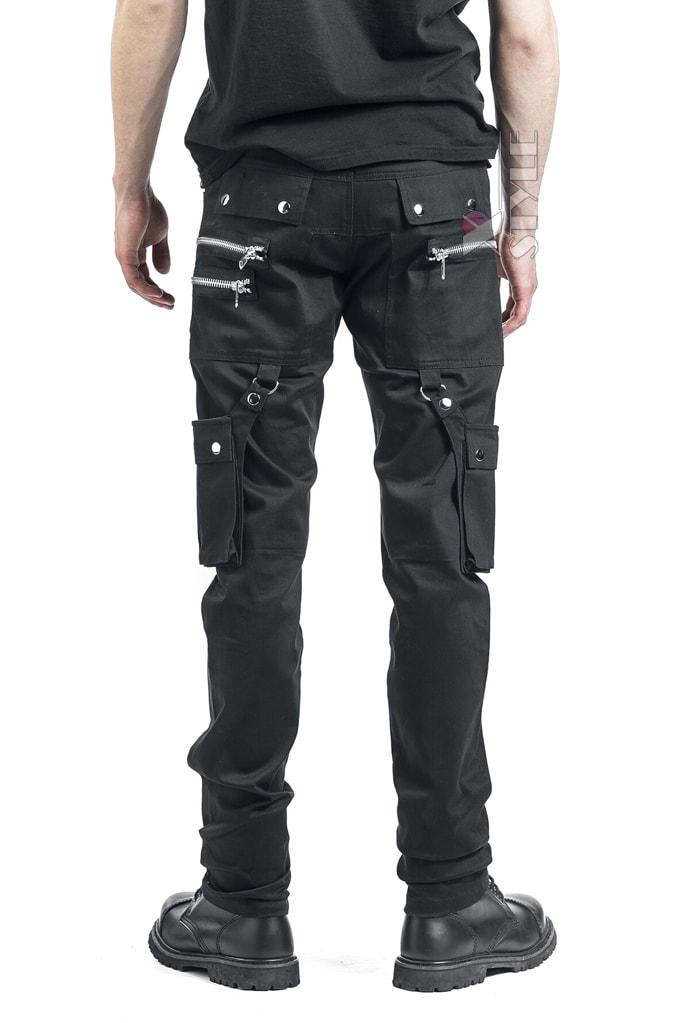 Черные мужские брюки с накладными карманами XTC7004, 3
