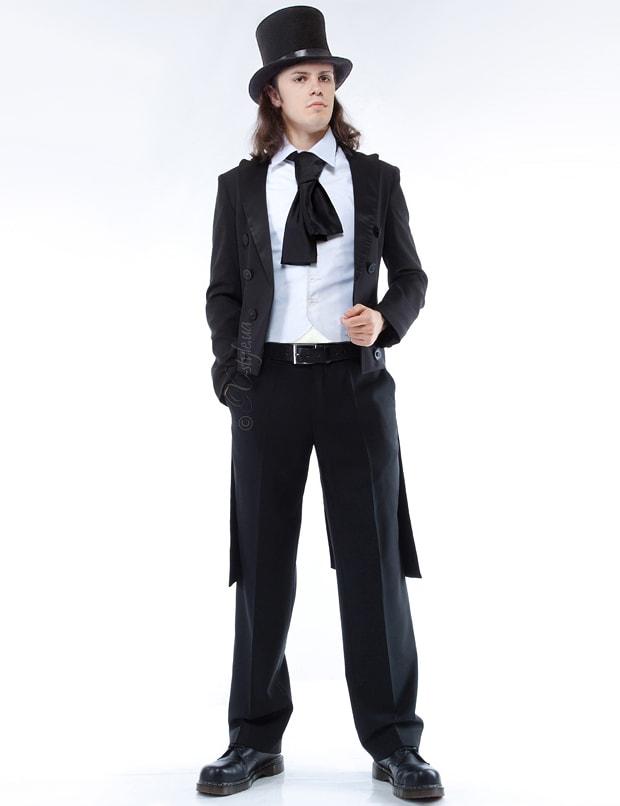 Мужской фрак с жилеткой, манишкой и шарфом, 3