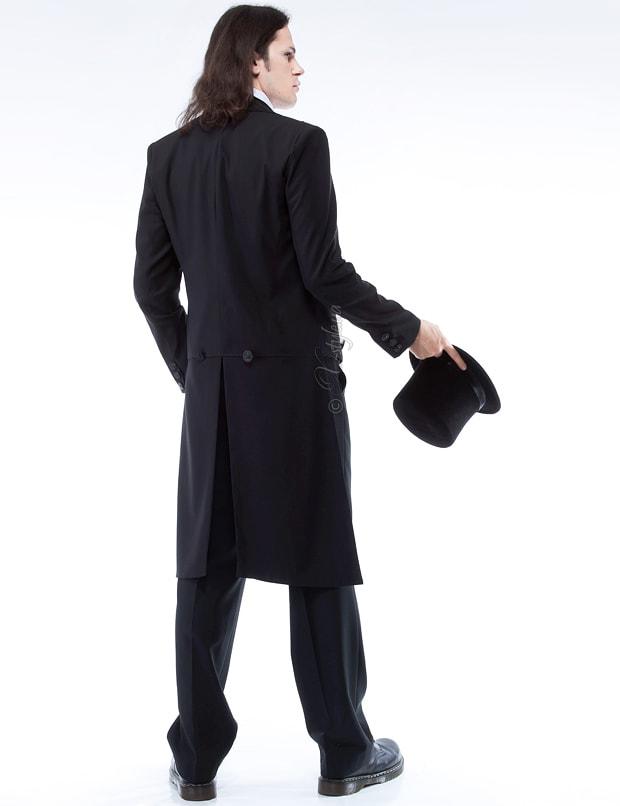 Мужской фрак с жилеткой, манишкой и шарфом, 7