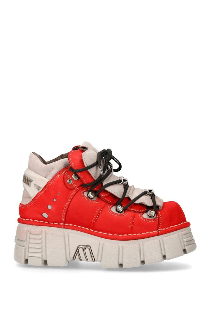 Красные кроссовки из нубука 106-C72, 3