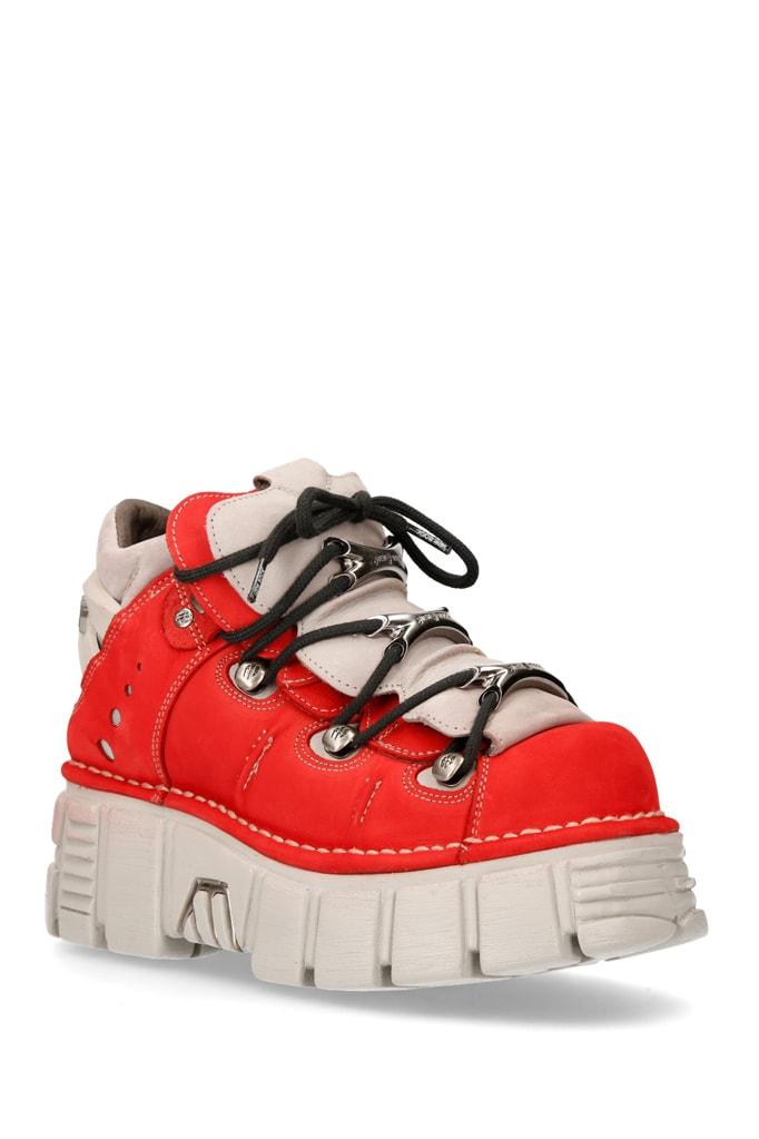 Красные кроссовки из нубука 106-C72, 5