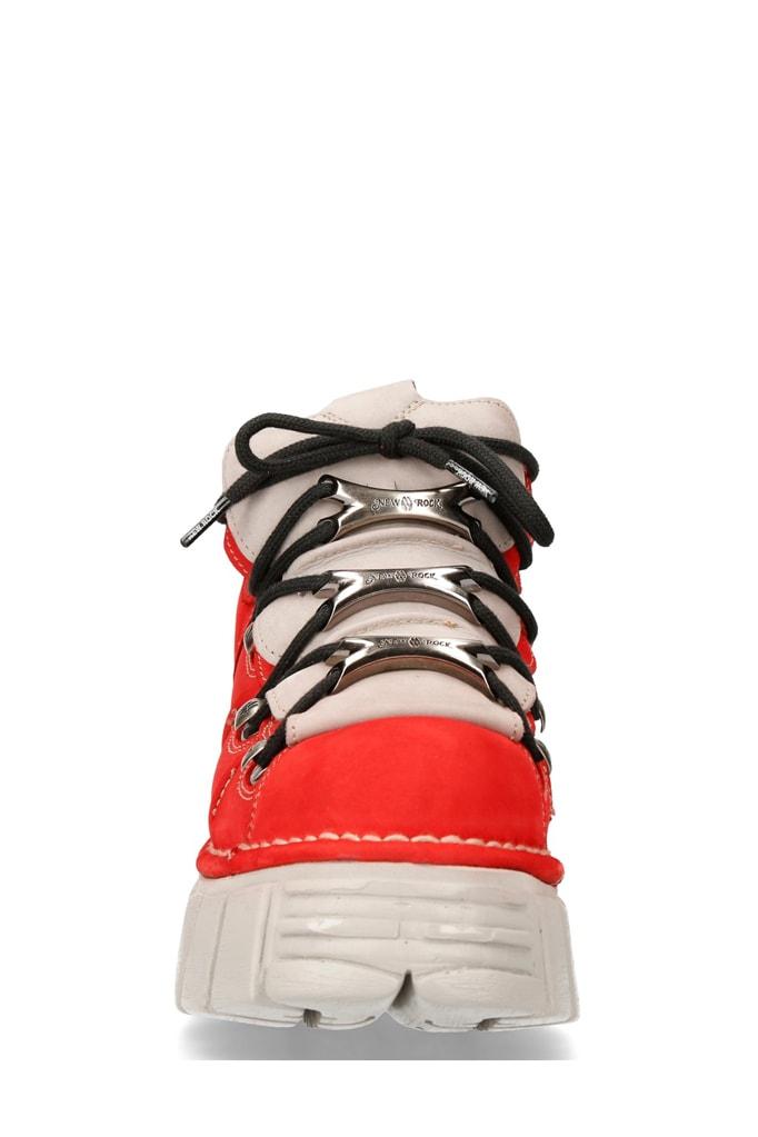 Красные кроссовки из нубука 106-C72, 7
