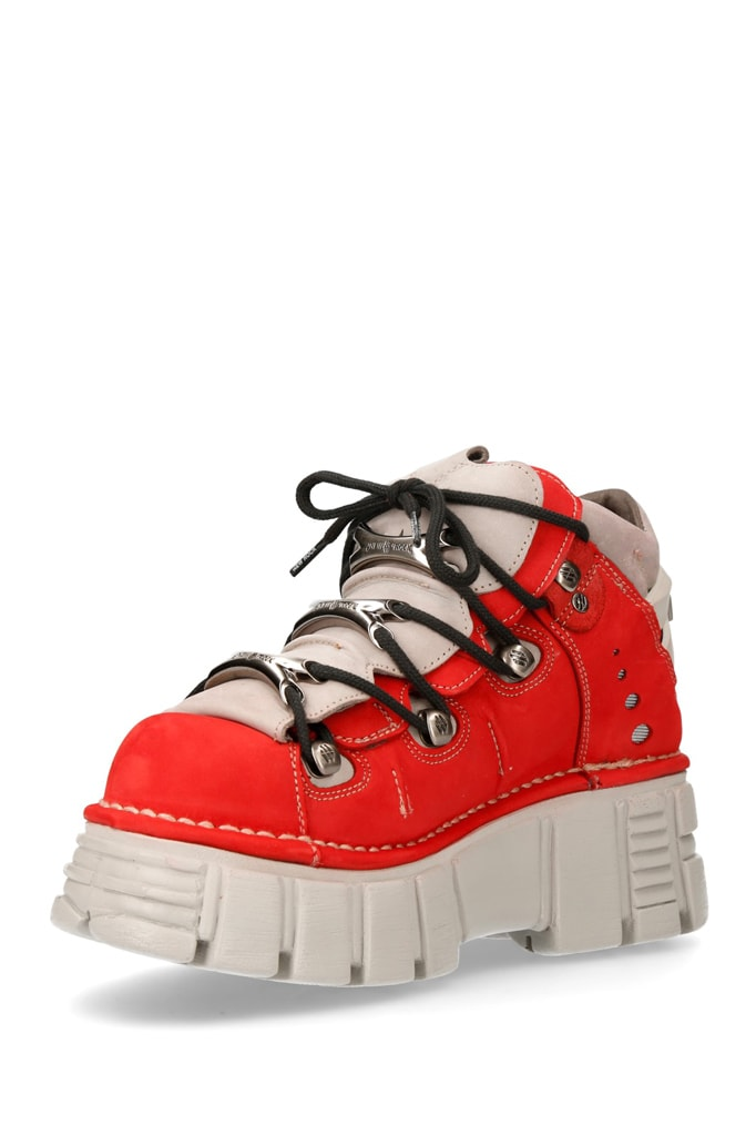 Красные кроссовки из нубука 106-C72, 9