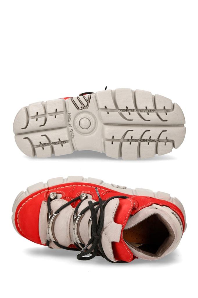 Красные кроссовки из нубука 106-C72, 13
