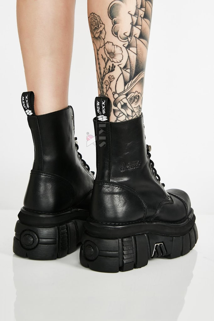 Кожаные ботинки на платформе NEW08321, 11