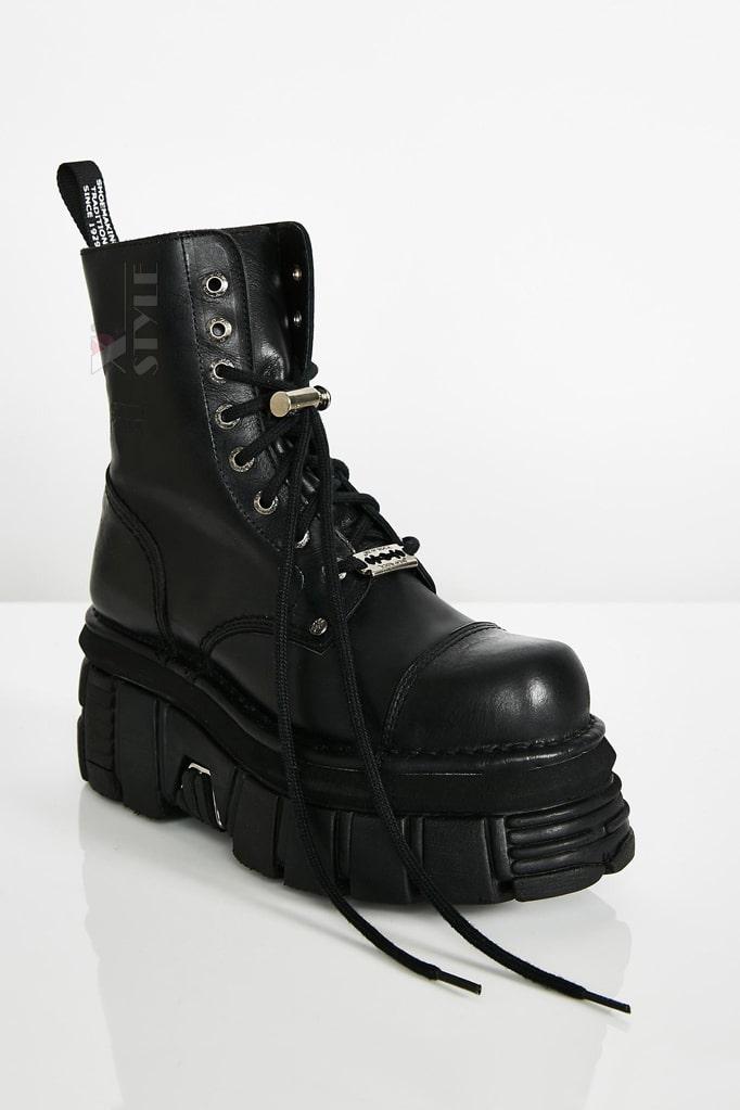 Кожаные ботинки на платформе NEW08321, 9