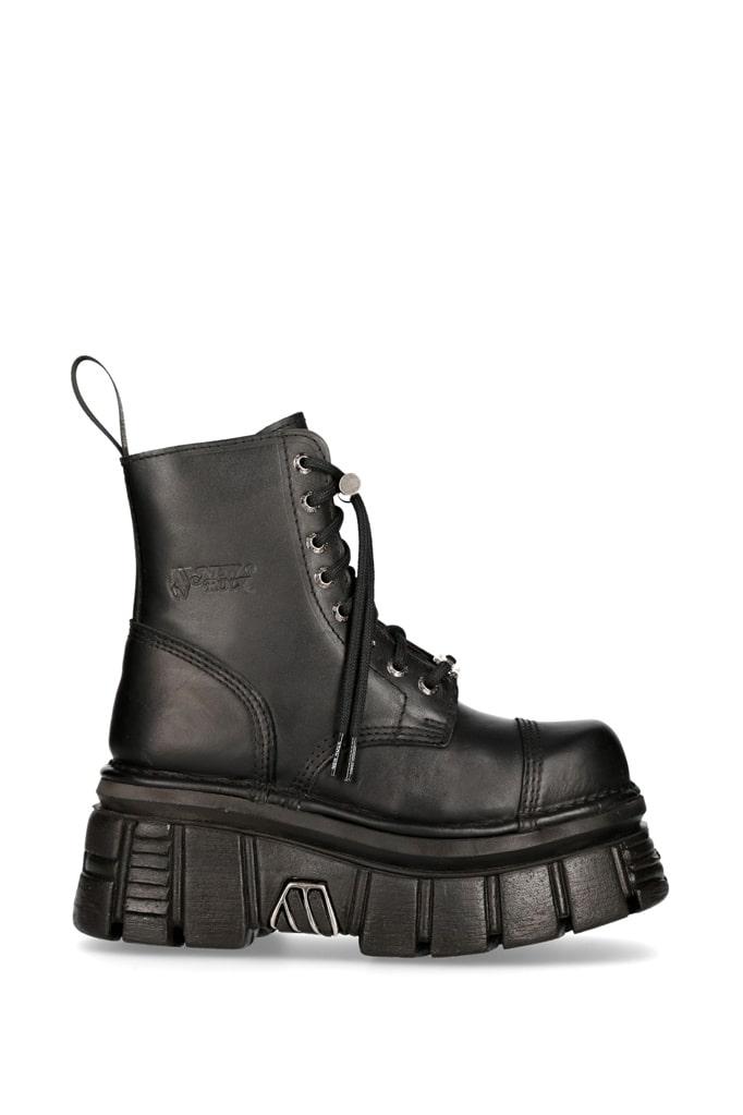 Кожаные ботинки на платформе NEW08321, 3