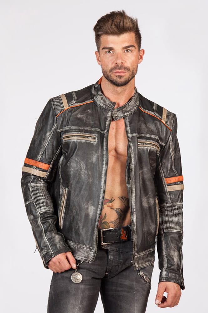 Мужская куртка из натуральной кожи New Rock, 3