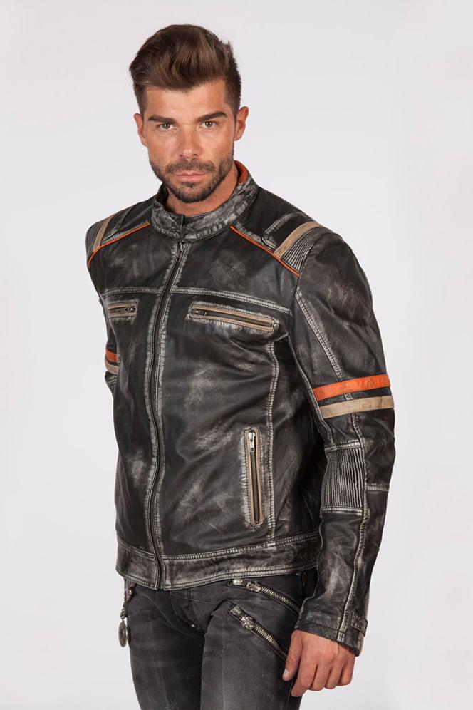 Мужская куртка из натуральной кожи New Rock, 5