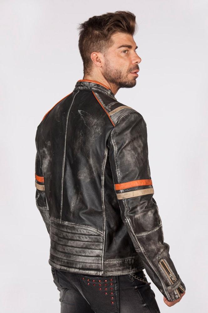Мужская куртка из натуральной кожи New Rock, 9