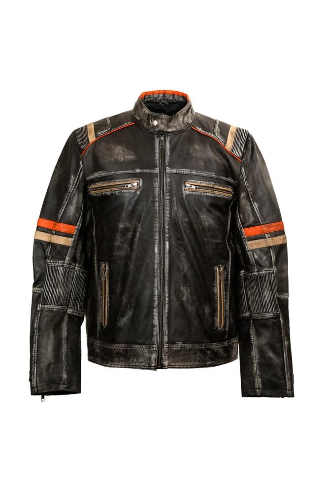 Мужская куртка из натуральной кожи New Rock, 11