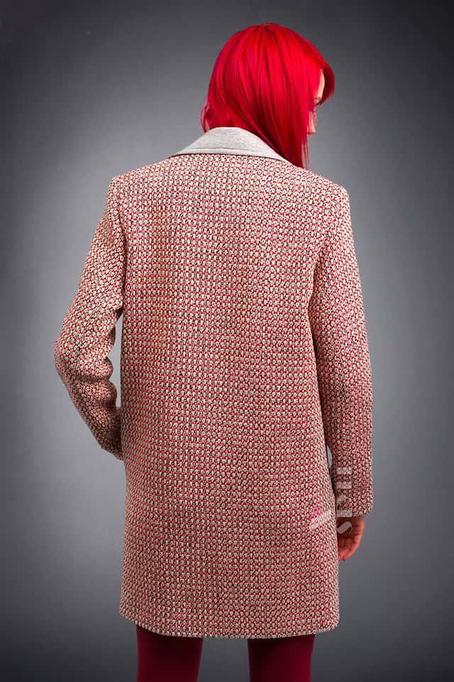 Демисезонное пальто из хлопкового твила X4035, 3