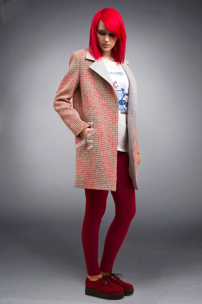 Демисезонное пальто из хлопкового твила X4035, 7