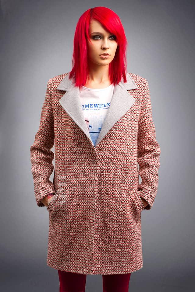 Демисезонное пальто из хлопкового твила X4035, 9