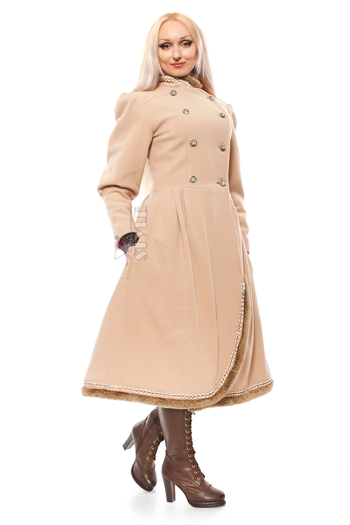 Зимнее винтажное пальто X5038, 5