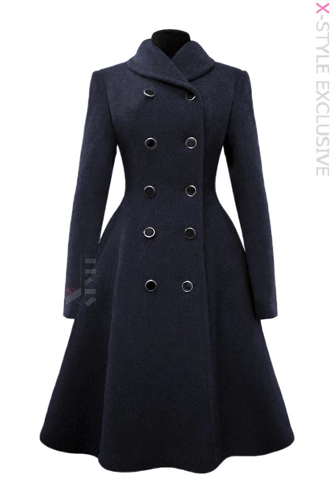 Зимнее пальто из натуральной шерсти Х115054