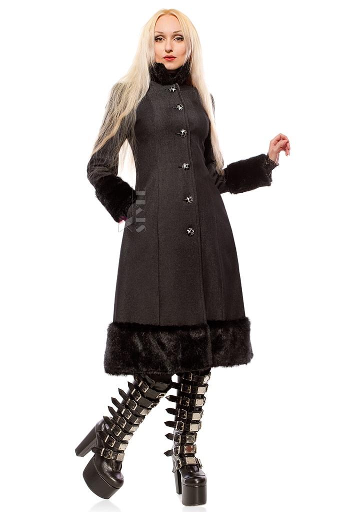 Зимнее пальто с корсетом и мехом Xstyle, 5