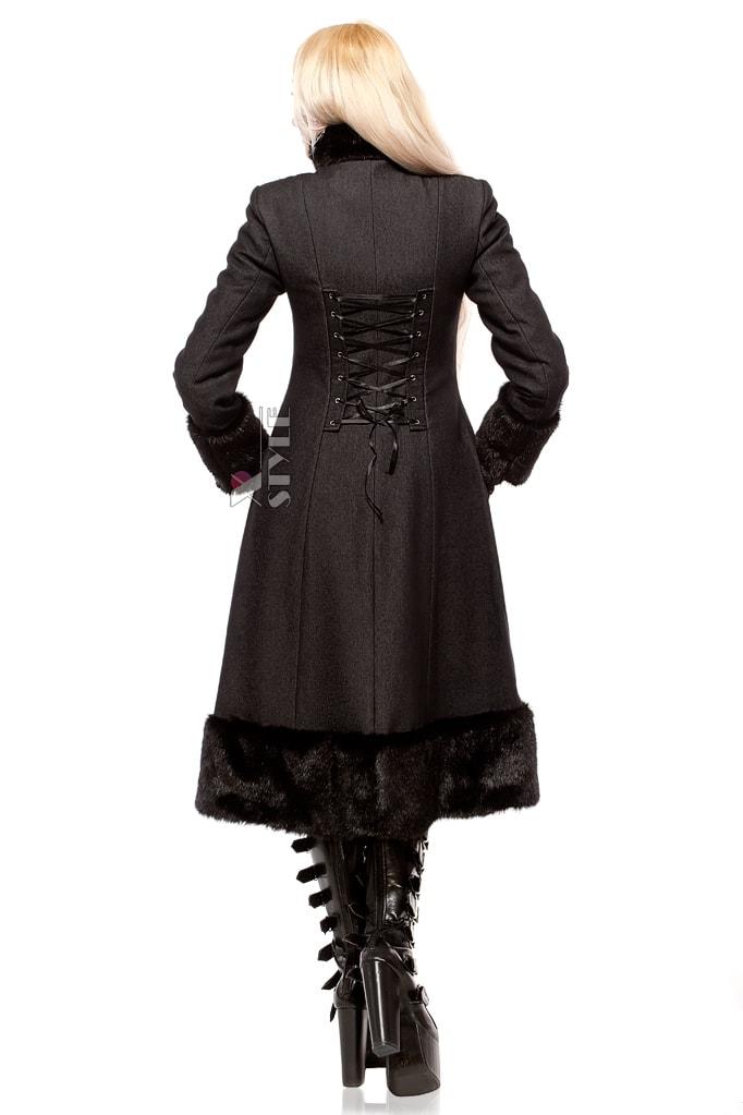 Зимнее пальто с корсетом и мехом Xstyle, 3