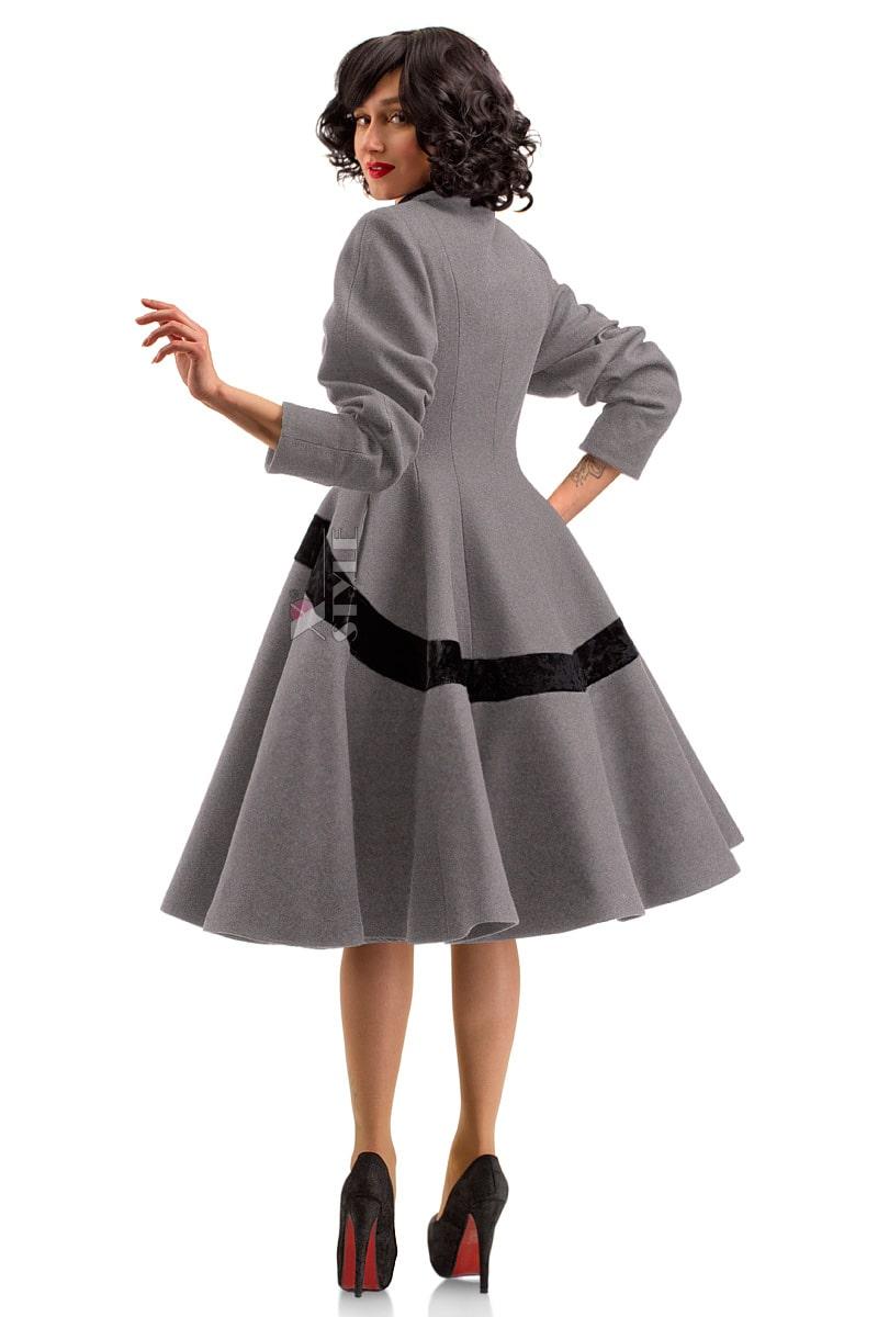 Винтажное демисезонное пальто из натуральной шерсти, 3