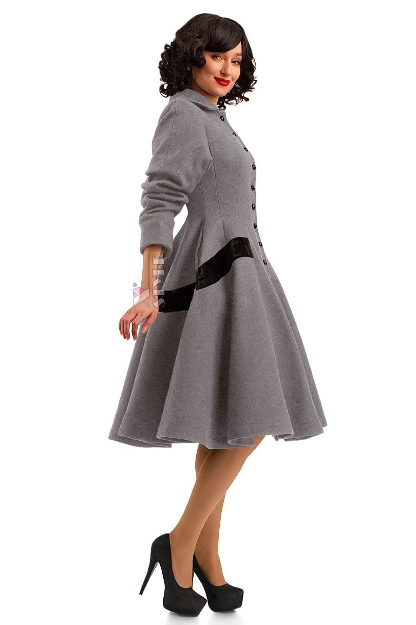 Винтажное демисезонное пальто из натуральной шерсти, 7