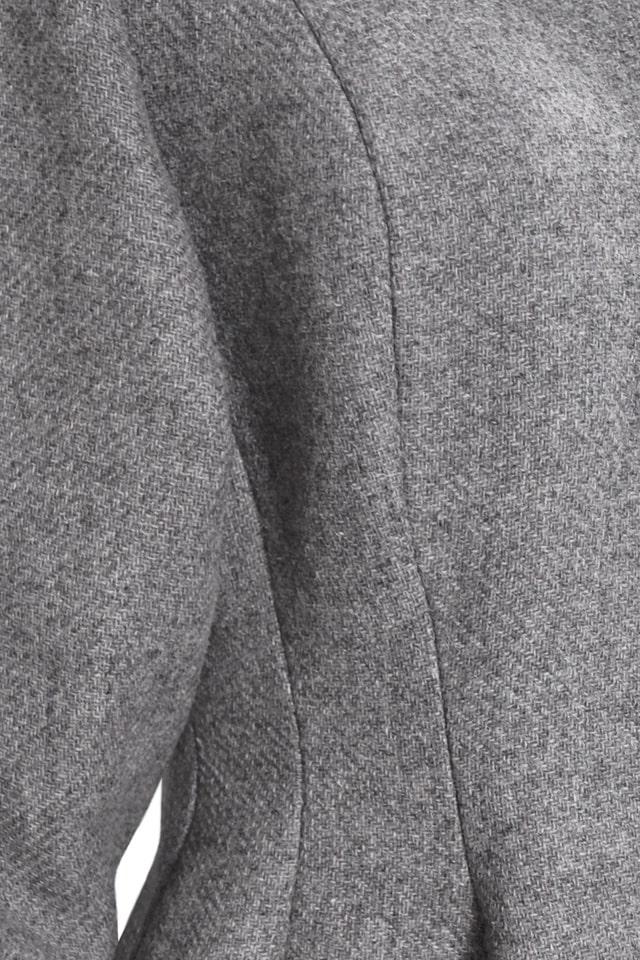Винтажное демисезонное пальто из натуральной шерсти, 5