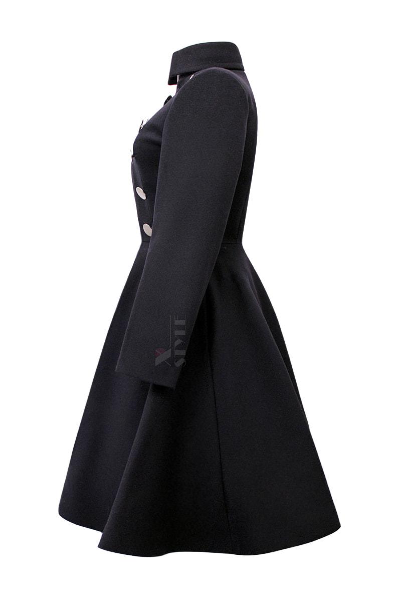 Шерстяное пальто в стиле Ретро Xstyle, 5