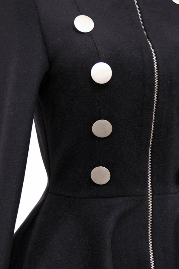 Шерстяное пальто в стиле Ретро Xstyle, 7