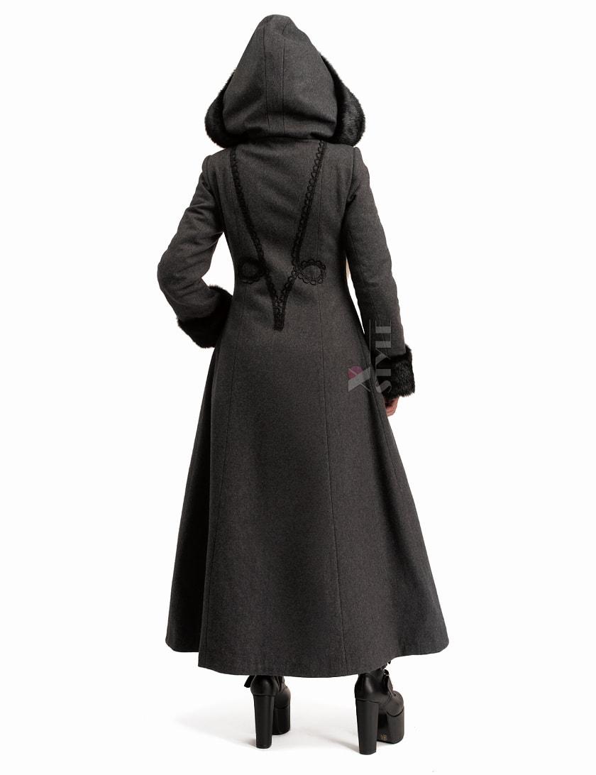Длинное женское пальто из натуральной шерсти X-Style, 13