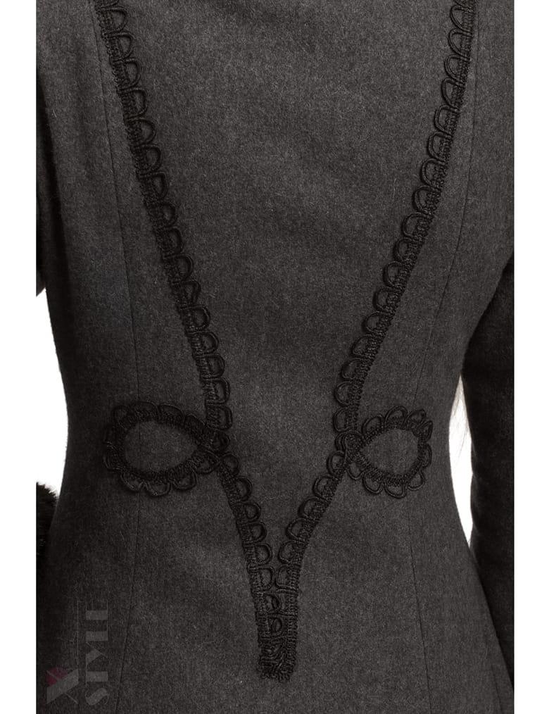 Длинное женское пальто из натуральной шерсти X-Style, 7