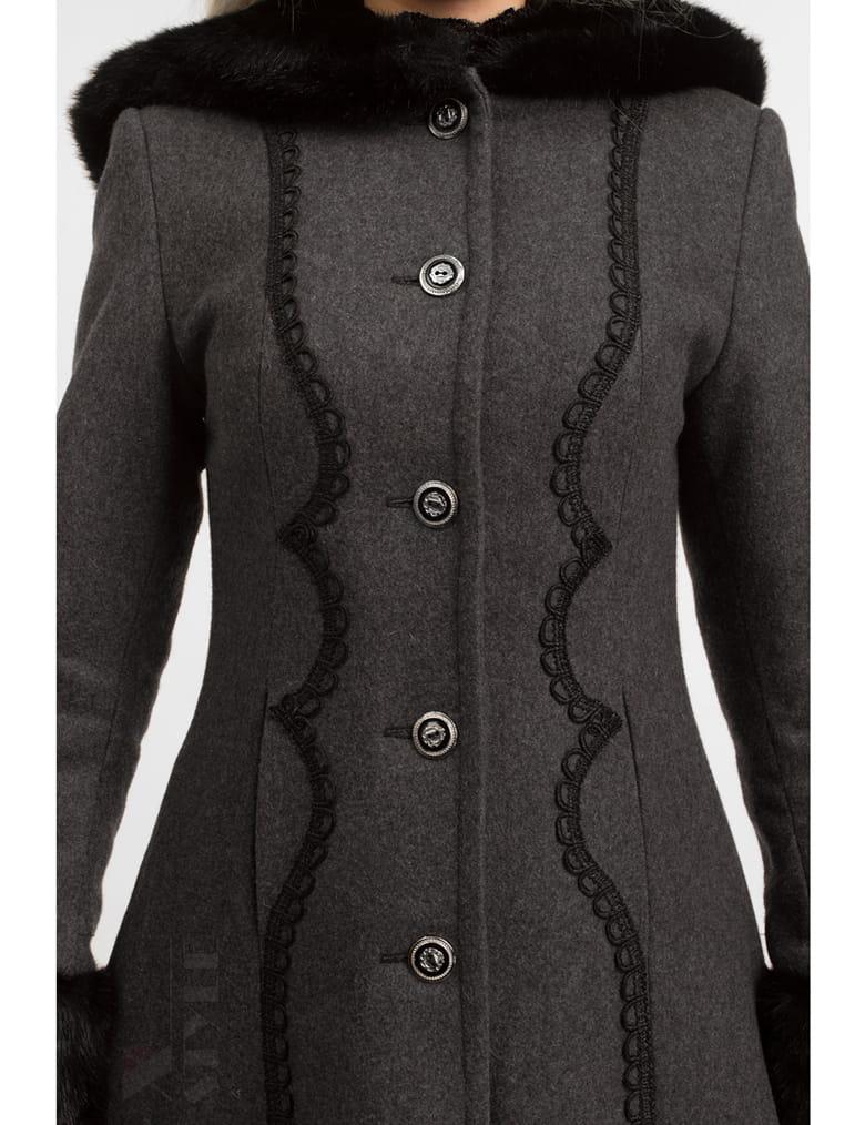 Длинное женское пальто из натуральной шерсти X-Style, 9