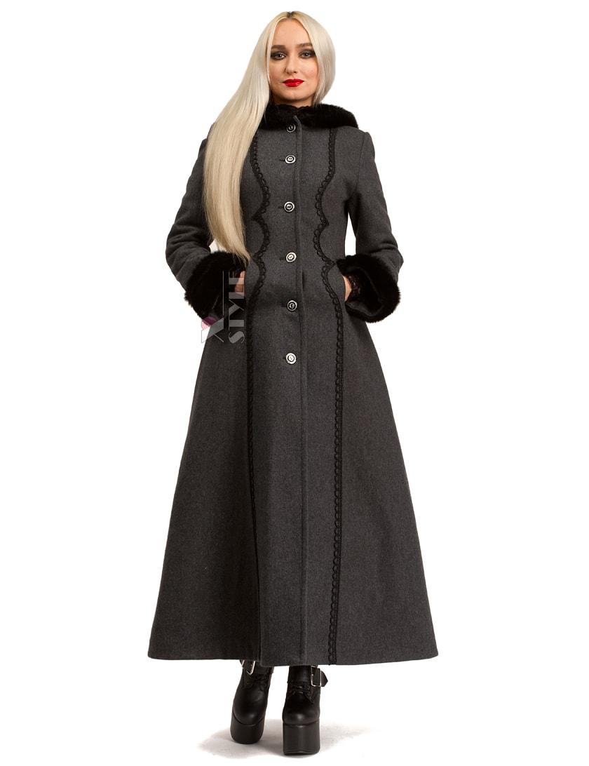 Длинное женское пальто из натуральной шерсти X-Style, 3
