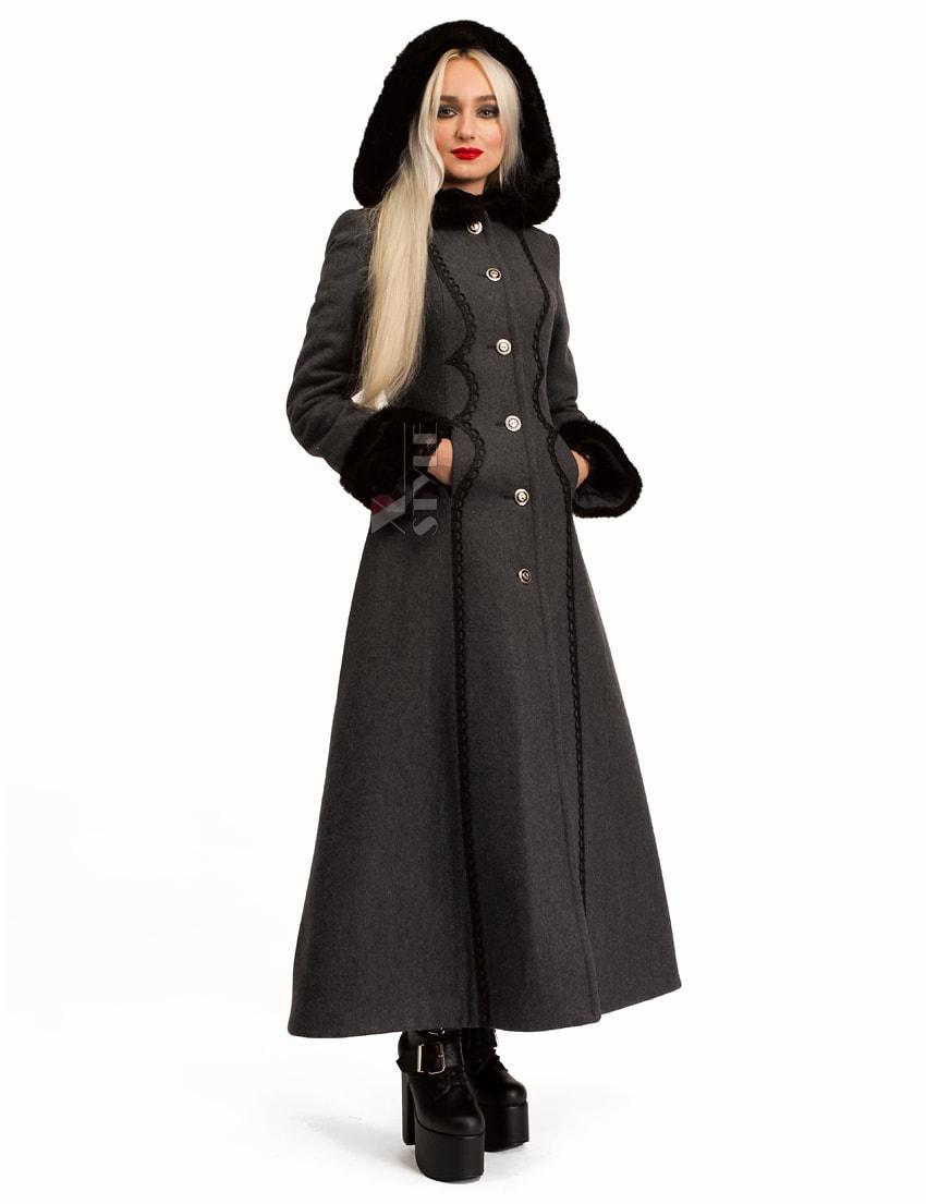 Длинное женское пальто из натуральной шерсти X-Style, 5